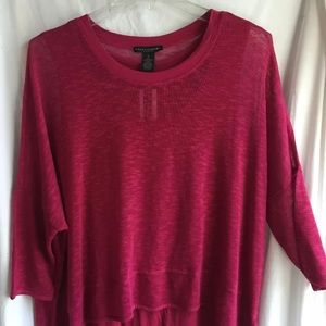 NWT Size 1X Grace Elements Knit Top Red 3/4-SL
